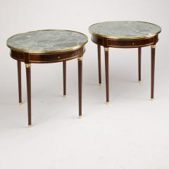 A pair of mahogany and brass gueridon tables Directoire style circa 1940 - 1646822