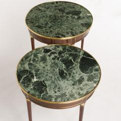 A pair of mahogany and brass gueridon tables Directoire style circa 1940 - 1646823