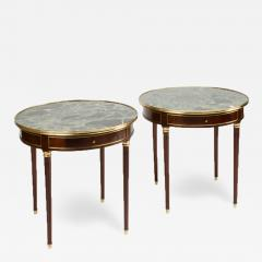 A pair of mahogany and brass gueridon tables Directoire style circa 1940 - 1647958