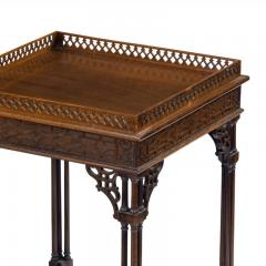 A pair of mahogany side tables in the Chippendale style - 1219263