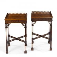 A pair of mahogany side tables in the Chippendale style - 1219268