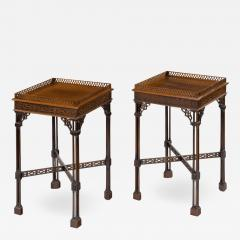A pair of mahogany side tables in the Chippendale style - 1219622