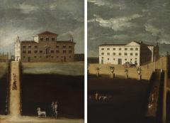 A pair of mid 18th century architectural Neapolitan views - 929552