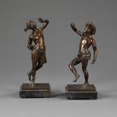 A pair of mid 19th century dancing bronze figures - 931257