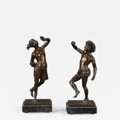 A pair of mid 19th century dancing bronze figures - 933244