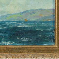 A pair of oil paintings of Clyde One Design yachts racing by Frank Henry Mason - 1837992