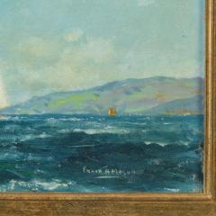 A pair of oil paintings of Clyde One Design yachts racing by Frank Henry Mason - 1837994