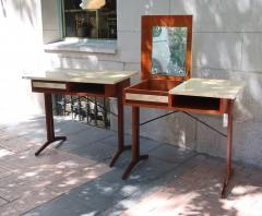 A pair of teak and lacquered parchment desks Italy 60 - 1016240