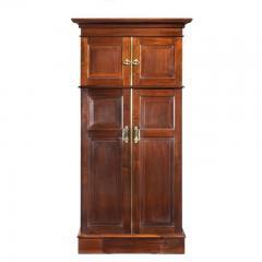 A rare Edwardian mahogany mechanical gentleman s wardrobe - 1176043