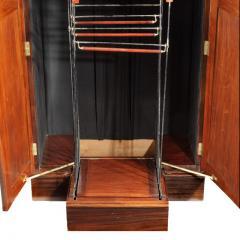 A rare Edwardian mahogany mechanical gentleman s wardrobe - 1176045