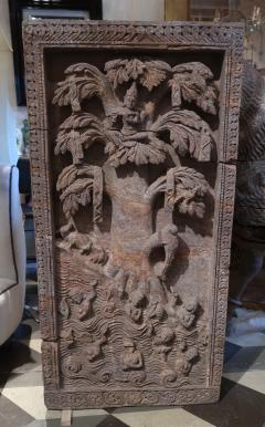 A red stone relief panel from Rajast n India XVIIth century - 1004458