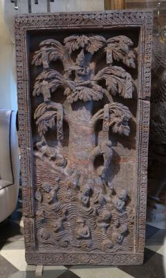 A red stone relief panel from Rajast n India XVIIth century - 1004459