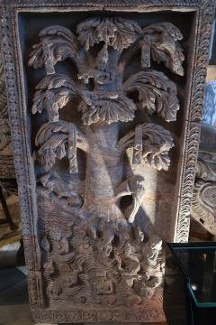 A red stone relief panel from Rajast n India XVIIth century - 1004467