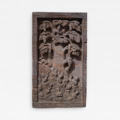 A red stone relief panel from Rajast n India XVIIth century - 1006345