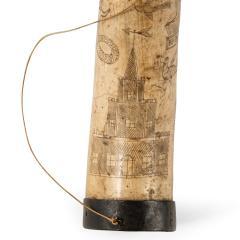 A sailor s carved cow horn - 1511394