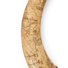A sailor s carved cow horn - 1511398