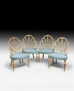 A set of 10 delicate Hepplewhite period armchairs - 825326