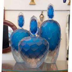 A set of 3 large Decorative Murano glass perfume bottles - 1191225