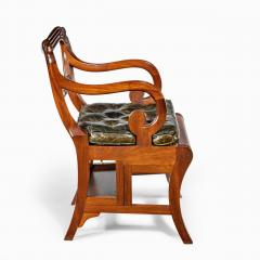 A set of Regency mahogany metamorphic library steps - 2012752