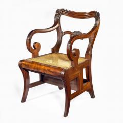A set of Regency mahogany metamorphic library steps - 2012755