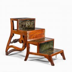 A set of Regency mahogany metamorphic library steps - 2012756