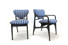 A set of Six side chairs Italian Mid century Style  - 1235125