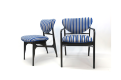 A set of Six side chairs Italian Mid century Style  - 1235128