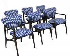 A set of Six side chairs Italian Mid century Style  - 1235138