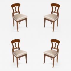 A set of four Biedermeier side chairs - 1185682