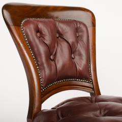 A set of six 19th Century Irish walnut and leather dining chairs - 1660911