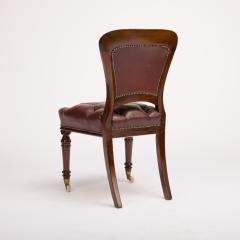A set of six 19th Century Irish walnut and leather dining chairs - 1660920
