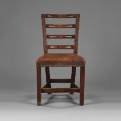 A set of six George III oak dining chairs - 929441