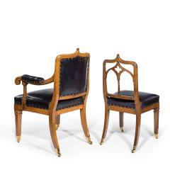 A set of six Gothic oak dining chairs - 1323188