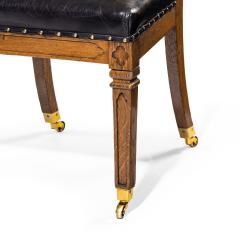 A set of six Gothic oak dining chairs - 1323189