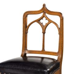 A set of six Gothic oak dining chairs - 1323190