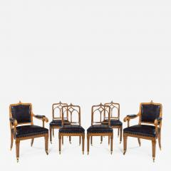 A set of six Gothic oak dining chairs - 1325663
