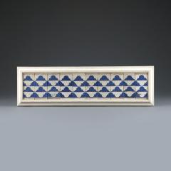 A set of ten Cuenca blue and white tiles with a Renaissance pattern  - 935221