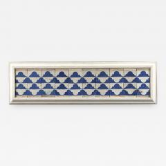A set of ten Cuenca blue and white tiles with a Renaissance pattern  - 935741