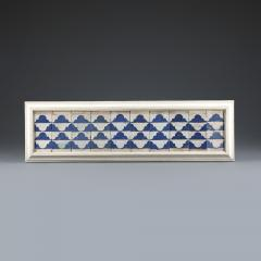 A set of ten Cuenca blue and white tiles with a Renaissance pattern  - 935246