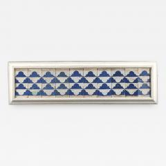 A set of ten Cuenca blue and white tiles with a Renaissance pattern  - 935742