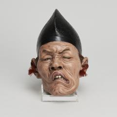 A set of three Japanese Iki Ningyo masks - 1290672