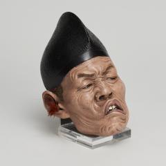 A set of three Japanese Iki Ningyo masks - 1290673