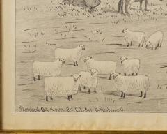 A signed Portrait of a Doylestown Ohio Farm by Edward Lewis Ott - 1571037