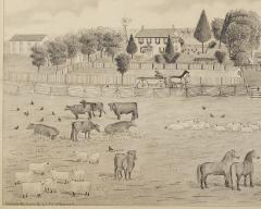 A signed Portrait of a Doylestown Ohio Farm by Edward Lewis Ott - 1571038