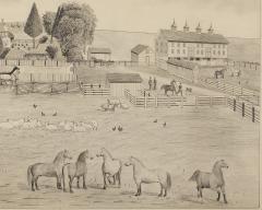 A signed Portrait of a Doylestown Ohio Farm by Edward Lewis Ott - 1571039