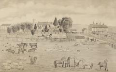 A signed Portrait of a Doylestown Ohio Farm by Edward Lewis Ott - 1571173