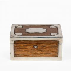 A silver mounted oak box from the ships timbers of HMS Victor Emmanuel - 1133947