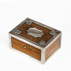 A silver mounted oak box from the ships timbers of HMS Victor Emmanuel - 1133948