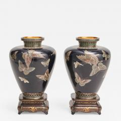 A stunning pair of Japanese Cloisonn vases - 1271104