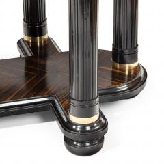A stylish Art Deco zebra wood centre or dining table - 1205626